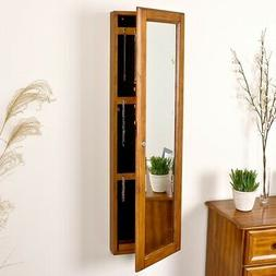 48.25 in. x 14.50 in. Jewelry Armoire Wall-Mounted w/ Mirror