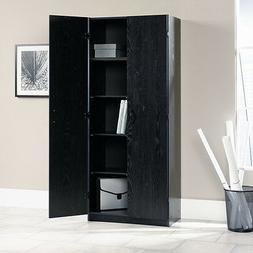 "Sauder 410814 Storage Cabinet L: 29.61"" x W: 16.02"" x H: 71."