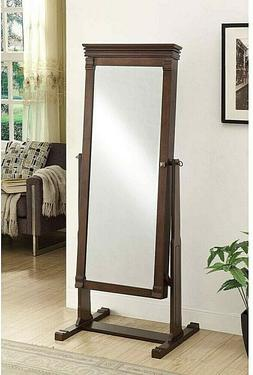 Angela Cheval Jewelry Armoire with Mirror, Cheval, Rectangle