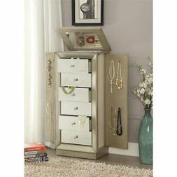 BOWERY HILL Jewelry Armoire in Antique Gold