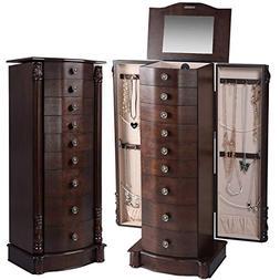 "Giantex 40"" Jewelry Armoire Chest Cabinet, Heavy Duty 17"""