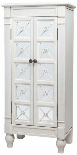Jewelry Armoire Mirror Bedroom Furniture Storage Doors Drawe
