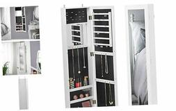 Beautify Full Length Mirrored Jewelry Armoire Cabinet Storag