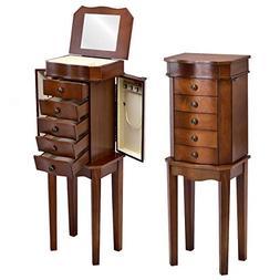 Giantex Jewelry Armoire Chest Cabinet Storage Organizer for