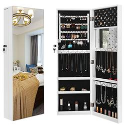 """SONGMICS 5.3"""" D Deepened Jewelry Cabinet Armoire for Bulky J"""