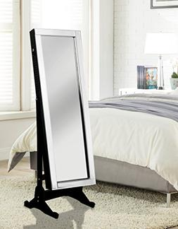 Chic Home Daze Jewelry Armoire Cheval Mirror, Full-Length, E