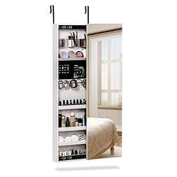 NEX Door Wall Mounted Jewelry Armoire Makeup Storage Organiz