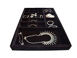 Jewelry box drawer insert Jewelry Organizer Tray, Wood and V