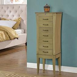 Nathan Direct Emma 7 Drawer Jewelry Armoire with 2 Side Comp
