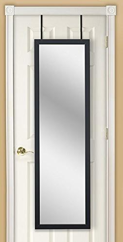 Mirrotek EVA48BK Over The Door Combination Jewelry and Makeu