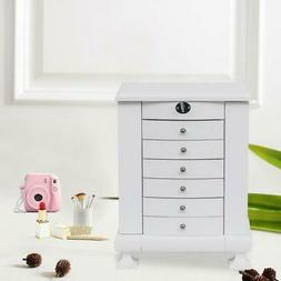 Extra Large Wooden Jewelry Box Armoire Cabinet Storage Drawe