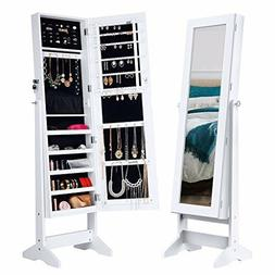Full Body Mirror With Entire Jewelry Cabinet Standing Armoir