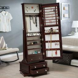 Full Length Wood Swivel Cheval Mirror Locking Treasure Jewel