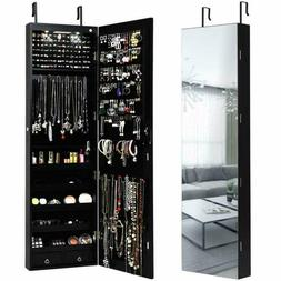Giantex Wall Door Jewelry Armoire Cabinet With Full-Length M