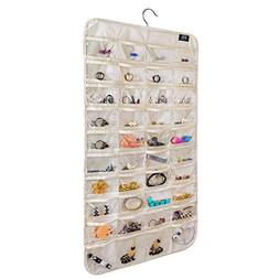 brotrade Hanging Jewelry Organizer,80 Pocket Organizer for H