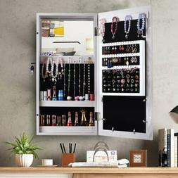 Hanging Wall Mount Photo Display Jewelry Armoire Cabinet Org