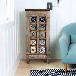 Hives & Honey Celine Ceruse Oak Jewelry Armoire with Mirror