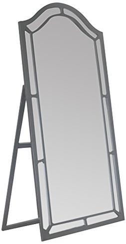Iconic Home Berlin Floor Mirror Free Standing Satin Finish,