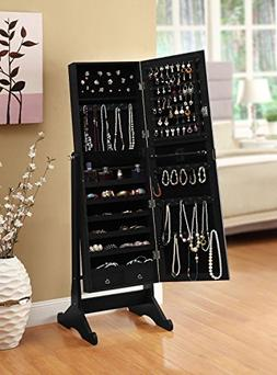 """Belleze 57""""-inch Jewelry Cabinet Armoire, Mirror, Necklaces,"""
