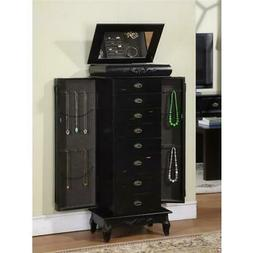 Nathan Direct J1006ARM-L-BLK Morris 8 Drawer Jewelry Armoire