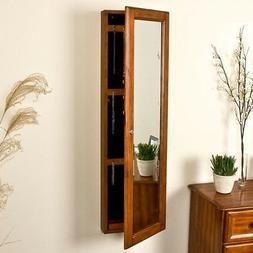 Jewelry Armoire Storage Full Length Mirror Organizer Accesso