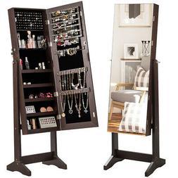 Jewelry Cabinet Armoire Lockable Standing Storage Organizer