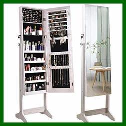 ORAF Jewelry Organizer Armoire Cabinet Standing Box W Full B
