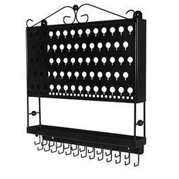 Designers Impressions JR20-FB Flat Black Wall Mounted Organi