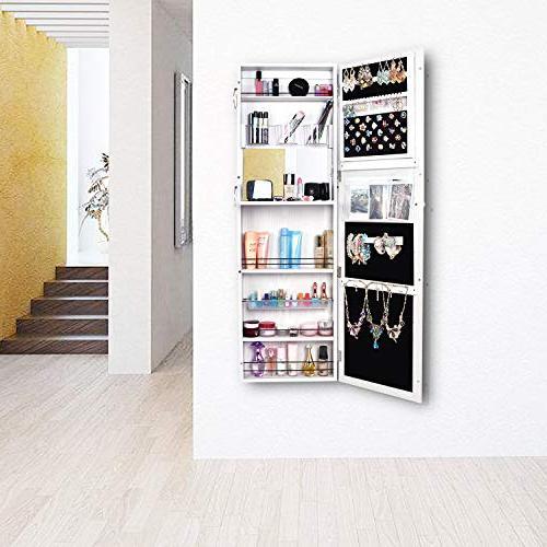 Bonnlo Mounted Door Hanging Full Mirrored Cabinet, Villous Packed Cosmetics,Heavy