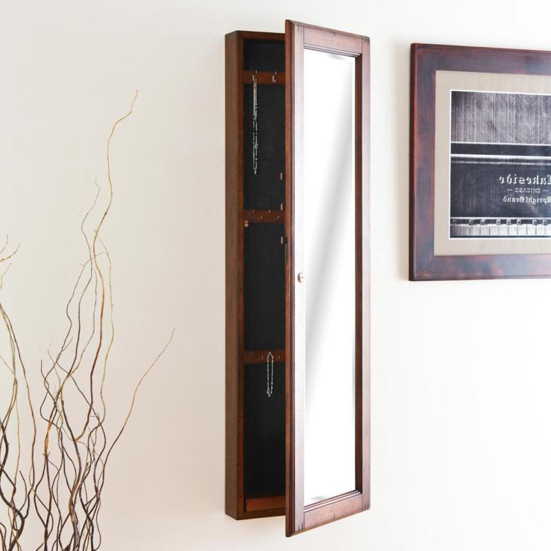 48-1/4 In. X 14-1/2 In. Warm Brown Walnut Wall-Mounted Jewel