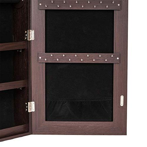 Bonnlo All Cabinet,Full Mirror Display, Jewelry Organizer, Dressing Beauty,Lockable Mounted