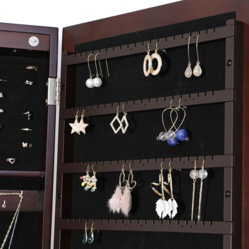 6 LED Organizer Cabinet Armoire Free Drawer