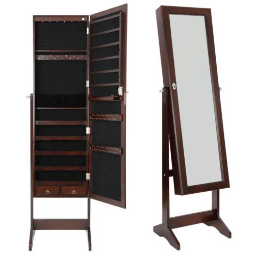 6 LED Mirror Organizer Cabinet Lockable Free