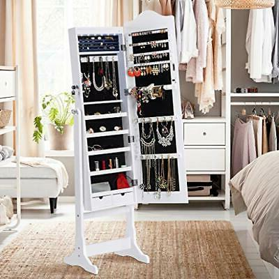6 Lockable Jewelry Cabinet Full-Length Armoire