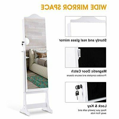 6 Jewelry Full-Length Armoire and