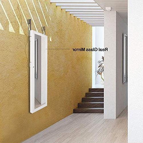 Bonnlo Armoire Mounted Door Hanging Full Cabinet, Villous Render Inside, Multilayer Styrofoam Packed for Cosmetics,Heavy Duty Organizer 2 in