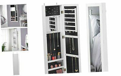 beautify full length mirrored jewelry armoire cabinet