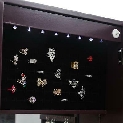 Beauty Wall Mirror Cabinet Organizer w/LED Light