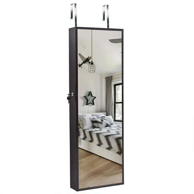 beauty wall door mounted mirror jewelry cabinet