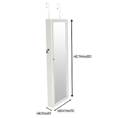 Mirrored Cabinet Armoire w/ LED