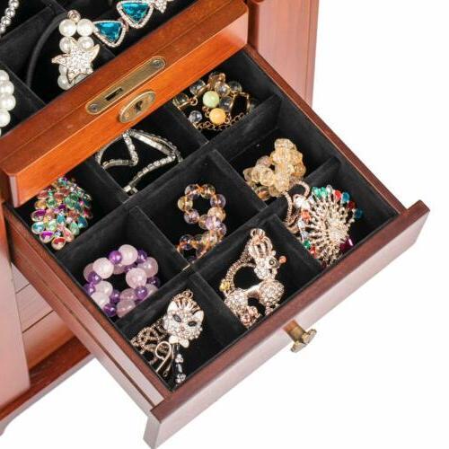 Extra Wooden Case Cabinet Necklacel Gift Storage