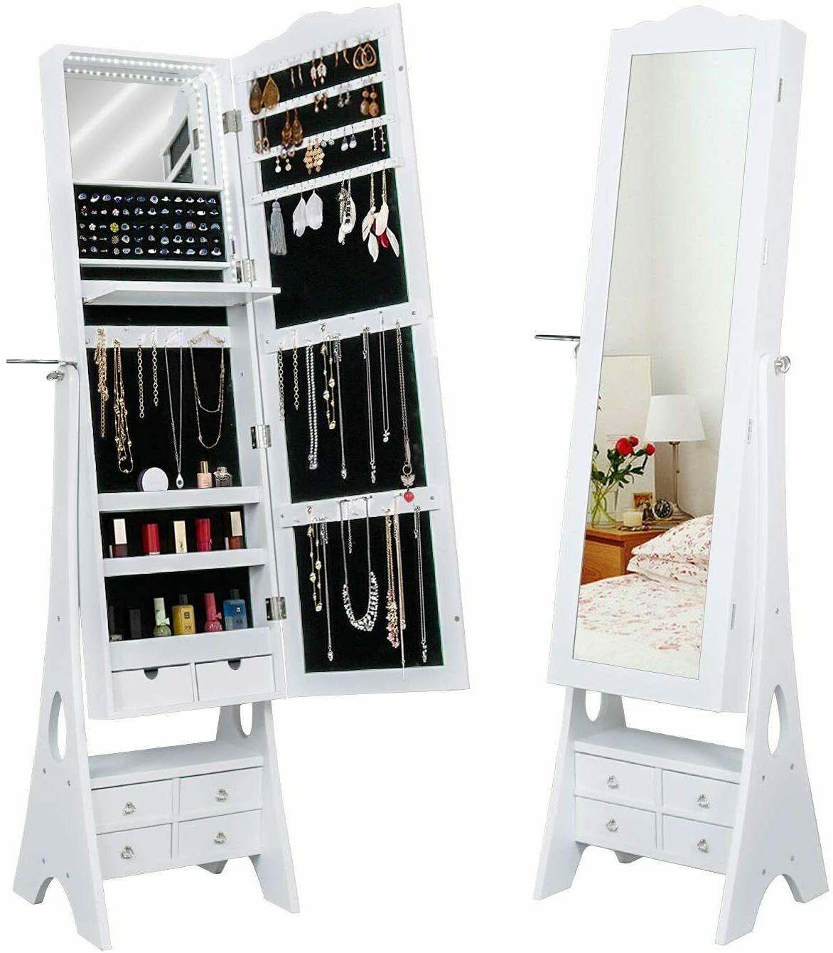 floor standing jewelry armoire 79 led lights