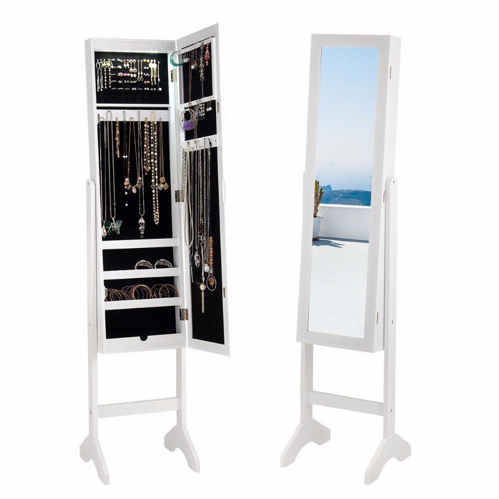 <font><b>Giantex</b></font> Modern Jewelry Cabinet LED Home HW58854