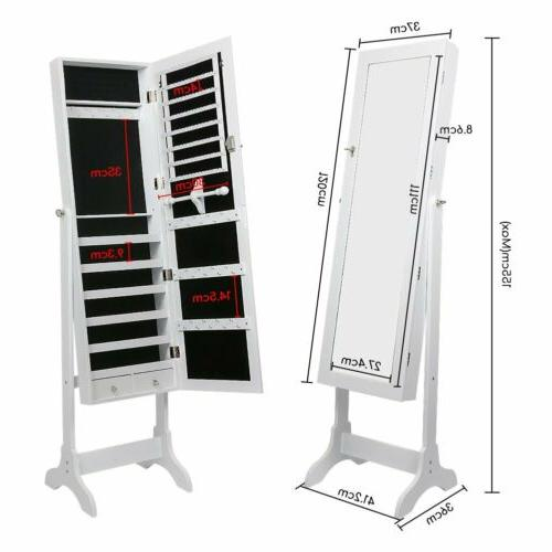Free Standing Full Length Mirror Jewelry Storage