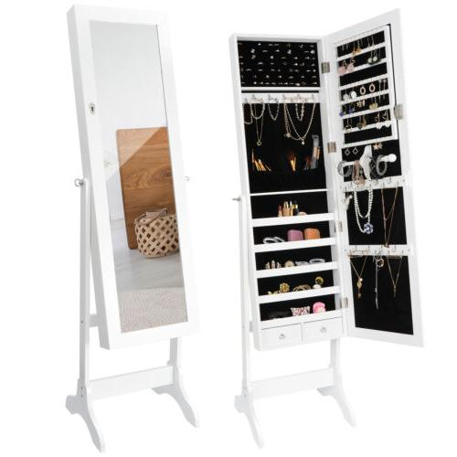 full length mirror jewelry cabinet free standing