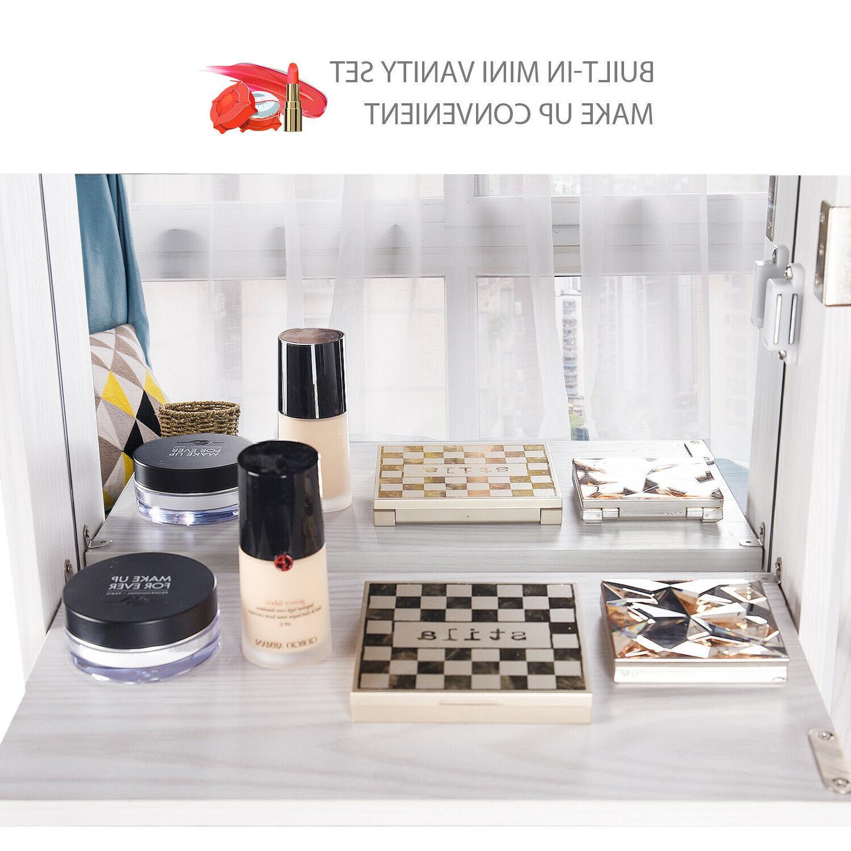 Full Length Jewelry Cabinet Wall Mounted Storage Organizer