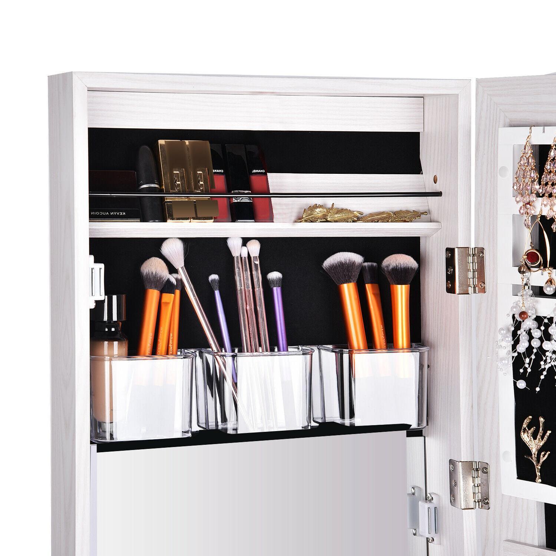 Full Length Mirror Cabinet Wall Door Storage Organizer