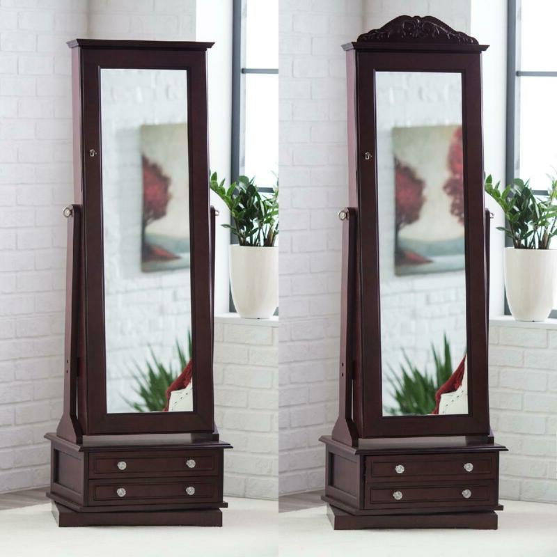 Full Length Wood Cheval Mirror