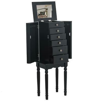 Jewelry Box Storage Cabinet Drawer Mirror