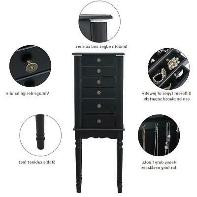 Jewelry Box Armoire Cabinet Drawer &